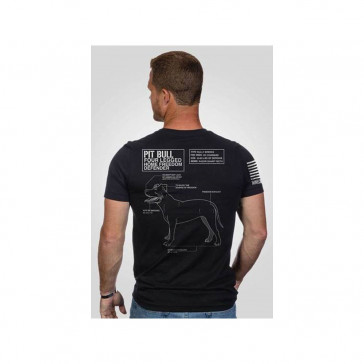 KENNEL TO COUCH PIT MEN'S T-SHIRT - BLACK, MEDIUM