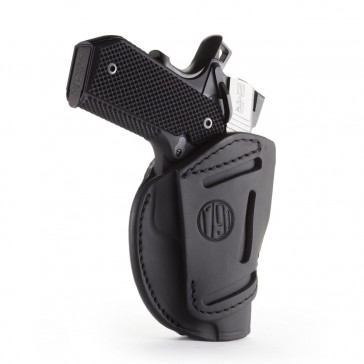 "3-WAY MULTI-POSITION OWB CONCEALMENT HOLSTER - STEALTH BLACK - AMBIDEXTROUS - BROWNING HP, COLT 1911 3""/4"", KIM 1911 3""/4"", SIG 1911 3""/4"""