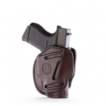 3-WAY MULTI-POSITION OWB CONCEALMENT HOLSTER - SIGNATURE BROWN - AMBIDEXTROUS - GLOCK 42/43, KEL 380, RUG LCP, SIG P365, S&W BODYGUARD, MOST .380S