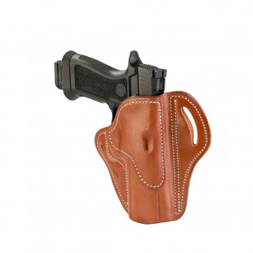 OPEN TOP MULTI-FIT BELT HOLSTER - CLASSIC BROWN - RIGHT HAND - FN 5.7, H&K VP TAC, RUGER AMERICAN, SIG P220/P226/P227, SPR XD MOD. 2