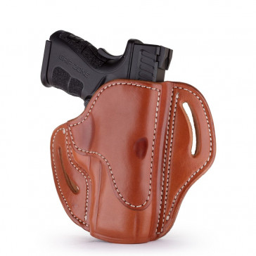 OPEN TOP MULTI-FIT BELT HOLSTER - CLASSIC BROWN - RIGHT HAND - FN 509, SIG P229/P228