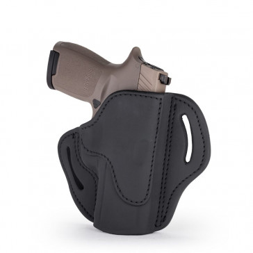 OPEN TOP MULTI-FIT BELT HOLSTER - STEALTH BLACK - RIGHT HAND - FN 509, SIG P229/P228