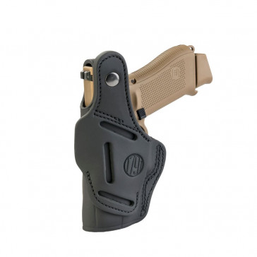 THUMB BREAK OWB/IWB BELT HOLSTER - STEALTH BLACK - LEFT HAND - GLOCK 19/2325/26/27, RUGER SR9C, S&W MP9, SPR XDS, WAL PPS