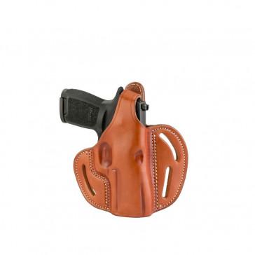 DUAL-POSITION OWB THUMB BREAK BELT HOLSTER - CLASSIC BROWN - RIGHT HAND - H&K P2000, 45C, SIG P229/P320C, M11A1, SPR XDMC