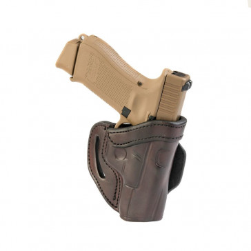 OPEN TOP MULTI-FIT BELT HOLSTER - SIGNATURE BROWN - RIGHT HAND - COLT DEFENDER
