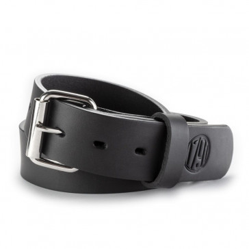 HEAVY DUTY PREMIUM STEERHIDE GUN BELT - STEALTH BLACK, SIZE: 34/38