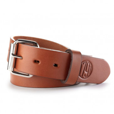 HEAVY DUTY PREMIUM STEERHIDE GUN BELT - CLASSIC BROWN, SIZE: 44/48