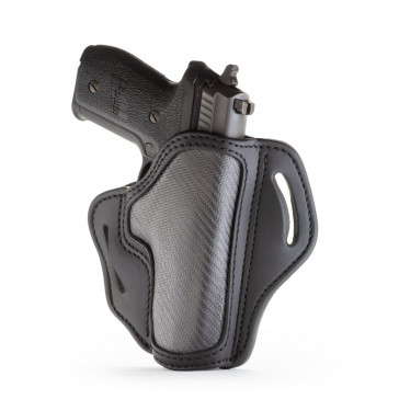 PROJECT STEALTH OWB MULTI-FIT BELT HOLSTER - CARBON FIBER - RIGHT HAND - BER 92FS, HK 45, GLK 17/20/21, RUG P95, SIG P220/P226, WAL P99