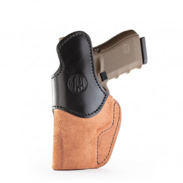 RIGID CONCEALMENT IWB HOLSTER - BROWN ON BLACK - RIGHT HAND - BER PX4, FN 509, GLK 23/29/30, H&K P2000, SIG P220/P226/P229, SPR XDM
