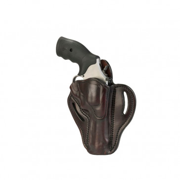 OWB REVOLVER BELT HOLSTER - SIGNATURE BROWN - RIGHT HAND - RUGER SP101, S&W 686