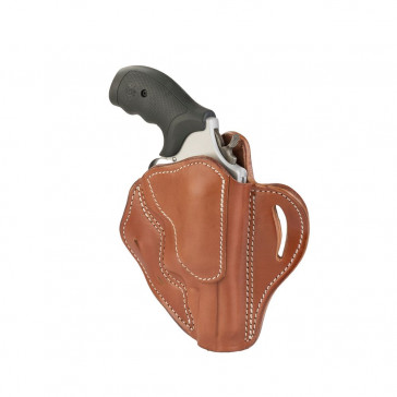 OWB REVOLVER BELT HOLSTER - CLASSIC BROWN - RIGHT HAND - S&W GOVERNOR, TAURUS PUBLIC DEFENDER, JUDGES POLYMER