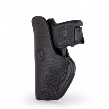 SMOOTH CONCEALMENT HOLSTER - STEALTH BLACK - LEFT HAND - BERSA THUNDER380,  KEL 380, RUGER SR22P, S&W BODYGUARD, SIG P938