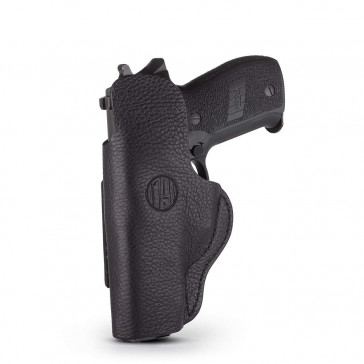 SMOOTH CONCEALMENT HOLSTER - STEALTH BLACK - RIGHT HAND - CZ CZ75, GLK 17/19/21, RUG SR9, SIG P225, S&W SHIELD, SPR XDS