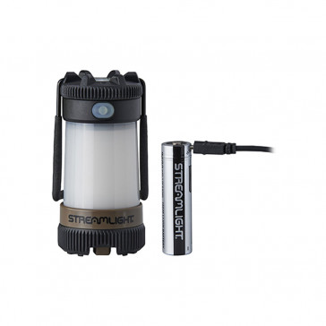 SIEGE® X USB RECHARGEABLE LANTERN - COYOTE BROWN - 18650 USB BATTERY & USB CORD