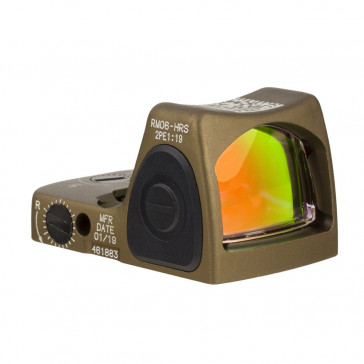 RMR TYPE 2 ADJUSTABLE LED SIGHT - 3.25 MOA RED DOT, ANODIZED COYOTE BROWN