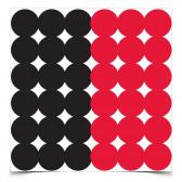 "DIRTY BIRD 1"" RED/BLACK REPAIR PASTERS, 432 PASTERS"