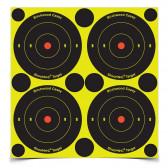 """SHOOT•N•C ® SELF-ADHESIVE TARGETS - 3"""" BULL'S-EYE, PACK"""
