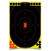 """SHOOT•N•C® SELF-ADHESIVE TARGETS 12"""" X 18"""" SILHOUETTE PACK - 12 TARGETS"""