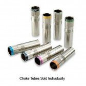 MOBILCHOKE VICTORY EXTENDED CHOKE TUBE - 20 GA, IMPROVED MODIFIED CONSTRICTION, SILVER WITH COLORED BANDS