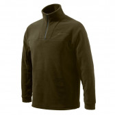 HALF ZIP FLEECE SWEATER - CHOCOLATE - X-LARGE