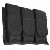 DISCREET MODULAR TRIPLE M16 MAGAZINE POUCH, BLACK