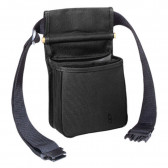 DIVIDED SHELL POUCH - BLACK