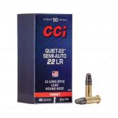 QUIET 22 LR 40 GR LRN SEMI-AUTO 50/BX
