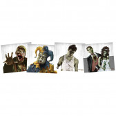 ZOMBIE TGTS 9I X9IN 20 CT PAPER TGTS