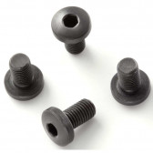 EXTREME GRIP SCREWS - COLT GOVERNMENT, COMMANDER, OFFICERS AND CLONES (4 SCREWS) - SLOTTED HEAD BLACK FINISH