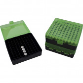 AMMO BOX 100RD FLIP TOP 10MM CLR GRN/BLK