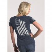 WOMEN'S AMERICA T-SHIRT - NAVY - SMALL