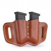 DOUBLE STACK POLYMER MAGAZINE CARRIER - CLASSIC BROWN