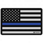 """POLICE SUPPORT FLAG CLEANING MAT - 11"""" X 17"""""""