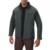 DOWNRANGE SOFT SHELL JACKET - GREY, LARGE