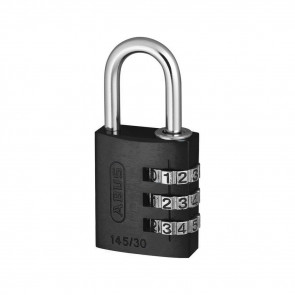 COMBINATION LOCK 145 - 3-DIAL, BLACK