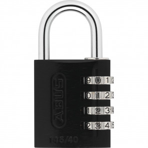 COMBINATION LOCK 145 - 4-DIAL, BLACK