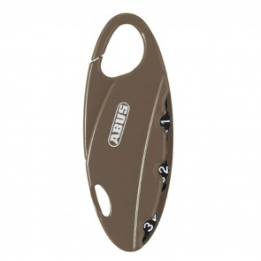 ABUS 151/20 BAKPAC 3-DIGIT RESETTABLE COMBINATION PADLOCK - TAN