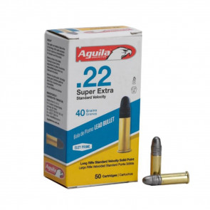 22 LR AMMUNITION 40GR LR STANDARD VELOCITY LEAD SOLID POINT - 50 ROUNDS
