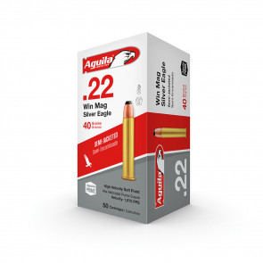 .22 WIN MAG SILVER EAGLE RIMFIRE AMMUNITION 40GR HIGH VELOCITY SEMI-JACKETED SOFT POINT - 50 ROUNDS