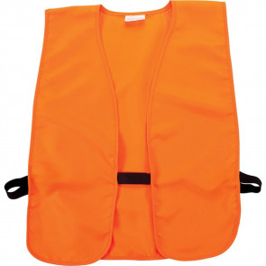 BLAZE ORANGE SAFETY VEST FOR HUNTERS