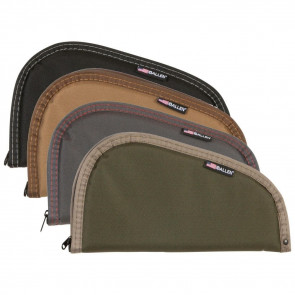 ASSORTED EARTHTONE AND CAMO PISTOL CASES - 11 INCHES