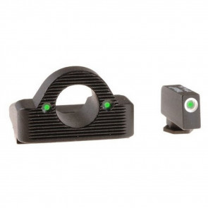 GLOCK PISTOL SIGHT SET - 17 / 19 / 22 / 23 / 24 / 26 / 27 / 33 / 34 / 35 / 37 / 38 / 39 - GHOST RING - GREEN TRITIUM ILLUMINATION