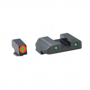 SPARTAN OPERATOR PISTOL SIGHT SET - GLOCK 42,43, GREEN, ORANGE, BLACK