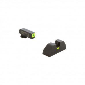 GLOCK CAP SET - GREEN OUTLINE FRONT - GREEN CAP REAR