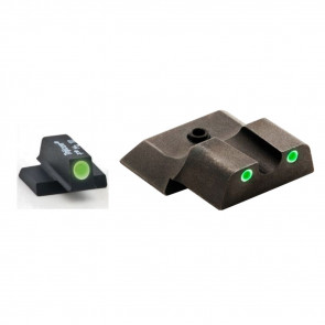 CLASSIC PISTOL SIGHT SET, SMITH & WESSON M&P SHIELD, 3 DOT GREEN
