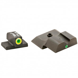 PRO I-DOT TRITIUM NIGHT SIGHTS, FRONT GREEN WITH ORANGE OUTLINE, REAR GREEN SINGLE DOT