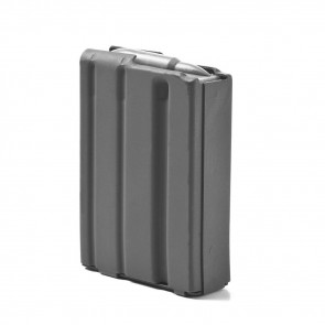 AR-15 .223/5.56 ALUMINUM 10 ROUND MAGAZINE - GRAY MOLY, GRAY FOLLOWER
