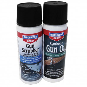 GUN SCRUBBER & SYNTHETIC GUN OIL AEROSOL COMBO PACK 1.25 FL OZ EACH