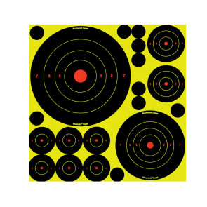 "SHOOT•N•C® ASS'T 1"", 2"", 3"", 6"" & 8"" BULL'S-EYES - 50 TARGETS"