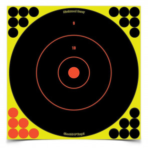 "SHOOT•N•C® SELF-ADHESIVE TARGETS 12"" BULL'S-EYE, 12 PACK"
